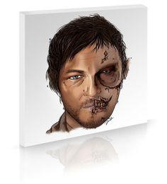 AMC's The Walking Dead Original Artwork  Canvas by MimiDezign, $40.00