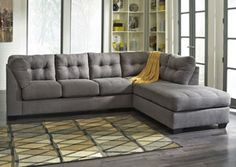 Maier Charcoal Right Arm Facing Chaise End Sectional, /category/living-room/maier-charcoal-right-arm-facing-chaise-end-sectional.html