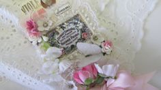 Floral Gift Tag Mixed Media Art Tag Vintage by underthenightmoon, $21.00