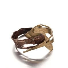 Catalina Brenes - Brass and SHIBUICHI hand made bracelet unique contemporary jewelry -