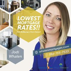 Looking to invest in your future by purchasing a home in the Fort McMurray area, but have no down payment? Whalen Mortgages | Mortgages For Less offers 100% financing.  Call Jodi Whalen, your Fort McMurray Trusted Mortgage Broker, to discuss your options. 780-715-7533 www.whalenmortgages.com