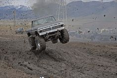 Donnie Maxwell in his Cummins powered F-350 at the Bozeman Mountaineers Hill & Hole, April 27th 2013