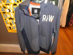 G-Star zomer sweater in blouw met rits