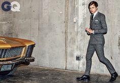 Dane DeHaan in Modern Tailored Business Suits