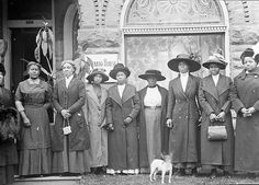 African American women in front of YWCA's Ontario House by Black History Album, via Flickr