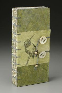 Sharon McCartney, Witness: Birdcalls (cover), Mixed Media Coptic Bound Book with printed and embroidered organdy pages. Found on sharonmccartneyart.com