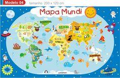 Mapa Mundi infantil mod.4