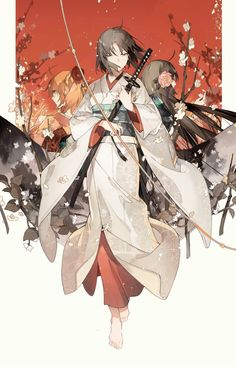 """miyamanga: """" """"Ryougi Shiki Untitled by STAR影法師 """" ※This artist does not require permission to reprint, as long as their name and URL are credited. If you liked this fanwork, do take the time to like. Anime Kimono, Anime Art Girl, Manga Art, Character Illustration, Illustration Art, Anime Krieger, Anime Warrior, Chica Anime Manga, Ecchi"""