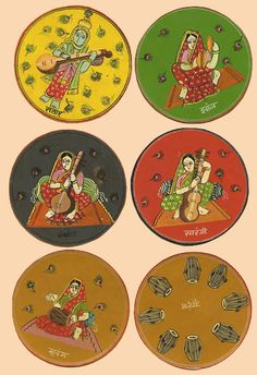 Pottery Painting Designs, Paint Designs, Mural Painting, Diy Painting, Indian Traditional Paintings, Playing Cards Art, Vintage Paintings, Indian Folk Art, Miniature Paintings