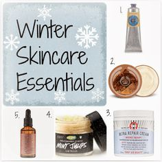 Winter Skincare Essentials - Check out this list of must-haves to cure dry skin problems!