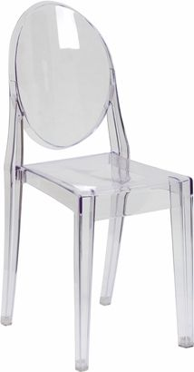 Inexpensive ghost chair (that stacks!)