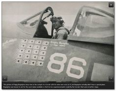 Pappy Boyington in Lucybelle