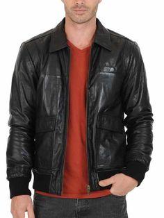 Men Leather Jacket Stylish Slim fit Soft Lambskin Bomber Biker Jacket - 03