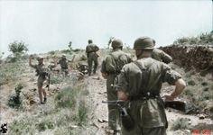 Greece, Crete May 1941 -. English soldiers surrender to German Fallschirmjäger