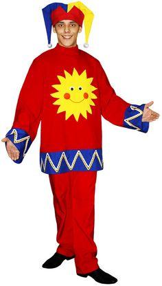 Новогодний костюм петрушки или клоуна для мальчика как сшить своими руками?