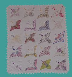 Vintage Hankies  BUTTERFLY QUILT, My friend has one of these....BEAUTIFUL!