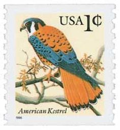 #3044 – 1996 1c American Kestrel,coil(w/ c sign) for sale at Mystic Stamp Company