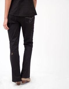 5109646353b The Flare Leg Pant in Black is a contemporary addition to women's medical  scrub outfits. Shop Jaanuu for scrubs, lab coats and other medical apparel.