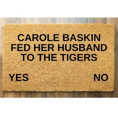 Ok Tiger King fans, who needs this on their front door?  #afterpayobsession #afterpay #uniqueobsession #australiawide #australiawideshipping #supportsmallbusiness #lmbdw #mumswhoshop #brisbanemums #goldcoastmums #queenslandbusiness #personaliseddoormats #familyname #personalisedgifts #fronthomedecor #frontroomdecor #homemade #homeinspiration #homeinspo #personalisedpresents #birthdaygift #christmasgift #housewarmingpresent #housewarming Personalized Door Mats, Personalized Gifts, Front Room Decor, Best Shakes, Housewarming Present, Coir, Welcome Mats, Doormat, Just Giving