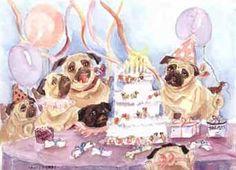 Pug Prints by Nancy Berry
