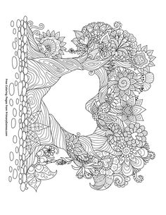 Free printable Valentine's Day Coloring Pages eBook for use in your classroom or home from PrimaryGames. Print and color this Trees Intertwined coloring page.