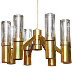 Lively Lightolier Chandelier from Tod Donobedian