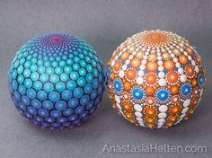Mandala stones, hand painted