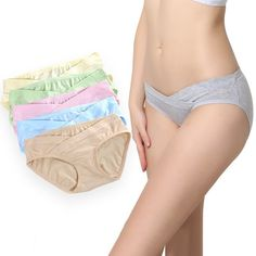 0be27904405a3 Women Seamless Maternity Underwear Pure Color Underpants Knickers Low Waist  5PCS  fashion  clothing