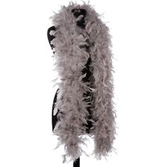 Taupe 65 Gram Chandelle Feather Boas - 6 Feet Long - Use as Trim or Wear as a Scarf - Halloween Party Favors - Decorations