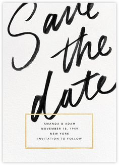 Save the Date Gold - paperless post. Order your personal invitation from Boardman . - Bild + Save the Date Gold - paperless post. Order your personal invitation from Boardman . Save The Date Invitations, Wedding Invitation Design, Elegant Wedding Invitations, Wedding Stationary, Invites, Wedding Invitations Canada, Handwritten Wedding Invitations, Invitations Online, Engagement Party Invitations