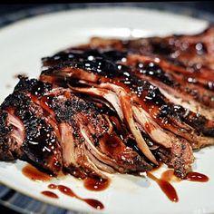Pork Loin: Brown Sugar and Balsamic Glazed Pork Loin