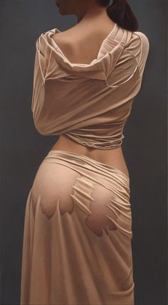 Duisburg, Germany born artist Willi Kissmer is known for his oil paintings of sensual and realistic female figures. The contrast of cloth and skin is perfectly presented with exquisite precision on the fabric of the human body.