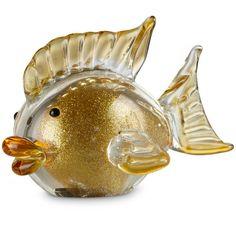 Sparkling Goldfish Art Glass Figurine By Lenox
