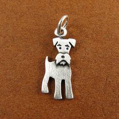 Tiny schnauzer pendant by StickManJewelry on Etsy
