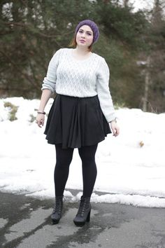 """03.03.13 - wearing: H+M sweater and beanie, Max C (via ASOS) skirt, Nelly """"Amadi"""" boots, Sal y Limon bangle, Michael Kors watch and YSL Arty Ring"""