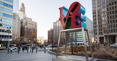 The City of Brotherly Love's best-known landmark is LOVE itself — the Robert Indiana sculpture in John F. Kennedy Plaza, northwest of City Hall. Installed in 1976, LOVE was briefly snatched away in 1978, but popular demand brought it back where it belongs.