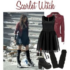 Scarlet Witch by fandomfashions42 on Polyvore