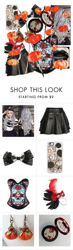 """""""Pumpkin and spice"""" by noelle20018 ❤ liked on Polyvore featuring Mairi Mcdonald, Disney, Casetify and Masquerade"""