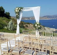 Arch Flowers, Greece Wedding, Athens, Garland, Pergola, Wedding Decorations, Outdoor Structures, Weddings, Wedding In Greece
