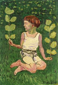 Ferdinand Hodler Boy Sitting with Branches