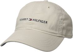 a990e35e Tommy Hilfiger Men's Logo Dad Baseball Cap, Tommy Stone, One Size at Amazon  Men's Clothing store: