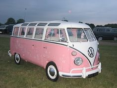 YES, Pink VW Bus. Love.