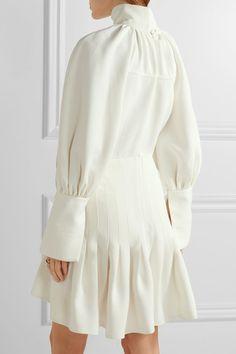 Ellery | Butler asymmetric pleated twill mini dress | NET-A-PORTER.COM