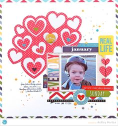 just the hearts -- the hearts in the background were cut out using the Silhoutte Cameo  - Scrapbook.com