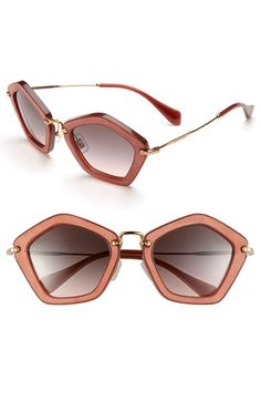 Miu Miu Geometric Sunglasses available at #Nordstrom