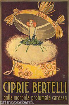 Italy Fashion Powder Box Ciprie Bertelli Repro Poster   eBay