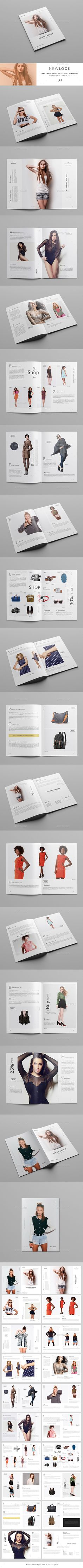 New Look / Fashion Catalogue & Magazine #booklet #brochure #catalog • Available here → http://graphicriver.net/item/new-look-fashion-catalogue-magazine/15458413?s_rank=150&ref=pxcr