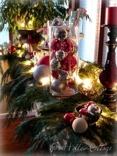 Thrifty Christmas Decorating with Cedar Boughs - Fox Hollow Cottage