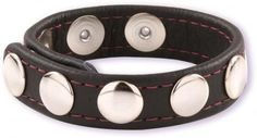 The Velcro closure cock strap from Doc Johnson is a new and exciting alternative to the widespread strapped leather cock rings. Made out of high class black leather, it allows you to adjust more accurately the tightness and tension thanks to the Velcro lock it uses - offering various configurations.