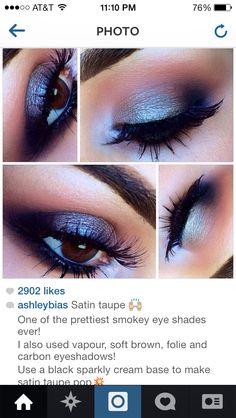 Satin taupe smokey eye